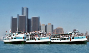 Diamond Jack's River Tours: Riverboat Tour on the Detroit River from Diamond Jack's River Tours (Up to 51% Value). Downtown & Wyandotte.