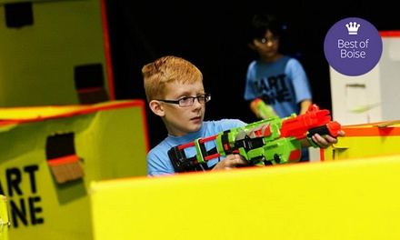 Two-Hours of Nerf Tag or One-Hour of Glow, Black-Light Nerf Tag for Two or Four at Dart Zone (Up to 53% Off)