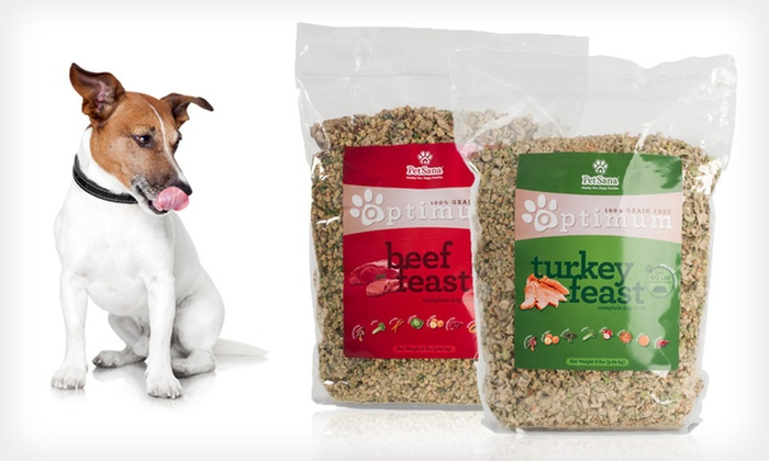 PetSana Optimum Feast Dog Food: $29 for PetSana Optimum Feast Dog Food in Beef or Turkey ($65 List Price). Free Shipping.