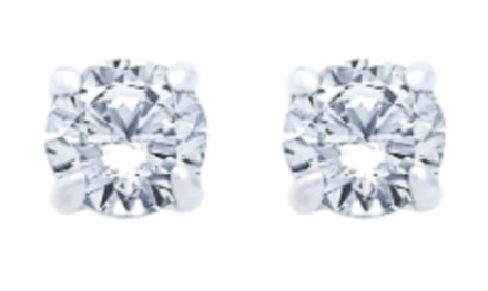 Round-Cut Stud Earrings at JKRF LLC