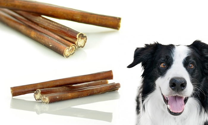 5 bully sticks treats 30 pack groupon goods. Black Bedroom Furniture Sets. Home Design Ideas