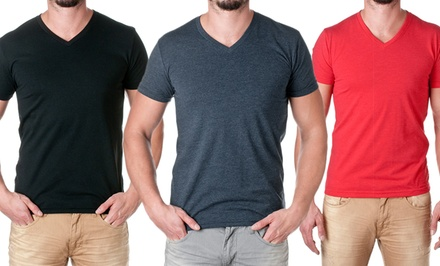 NLA Men's Premium Blend V-Neck Tees