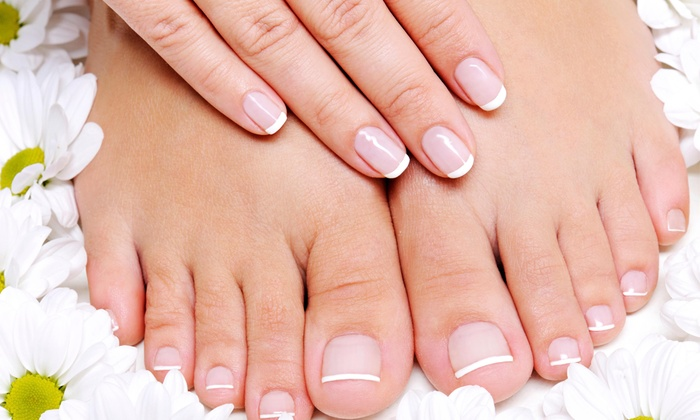 Luxury Indulgence - East Cleveland: No-Chip Manicure and Pedicure Package from Luxury Indulgence Nail Lounge and Spa (49% Off)