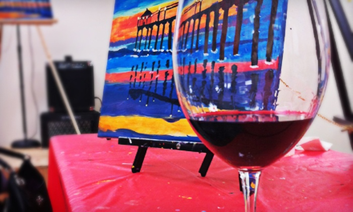 Paint 'n Pour - Redondo Beach: Painting Event and Wine for Two or Four at Paint 'n Pour (Half Off)