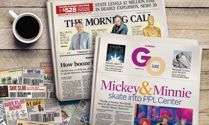 """The Morning Call: $10 for One-Year Saturday and Sunday Newspaper Subscription to """"The Morning Call"""" ($234 Value)"""