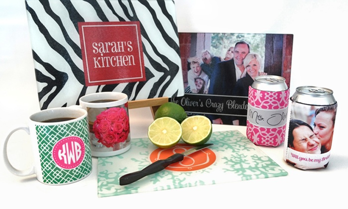 Paper Concierge: Custom Cutting Boards, Koozies, or Coffee Mugs from Paper Concierge (Up to 61% Off). Five Options Available.