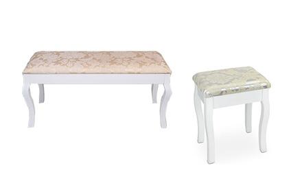 tabouret pour coiffeuse groupon shopping. Black Bedroom Furniture Sets. Home Design Ideas