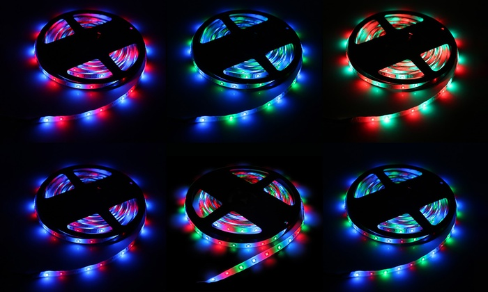 Up to 52 off on 164 rgb led light strip groupon goods imountek 164 rgb waterproof led flexible light strip aloadofball Images