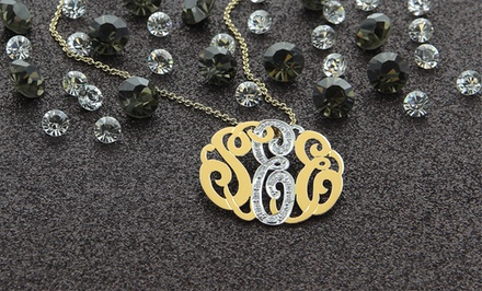 1/12 CTTW Diamond Accent Monogram Necklaces from MonogramOnline. Multiple Styles Available.