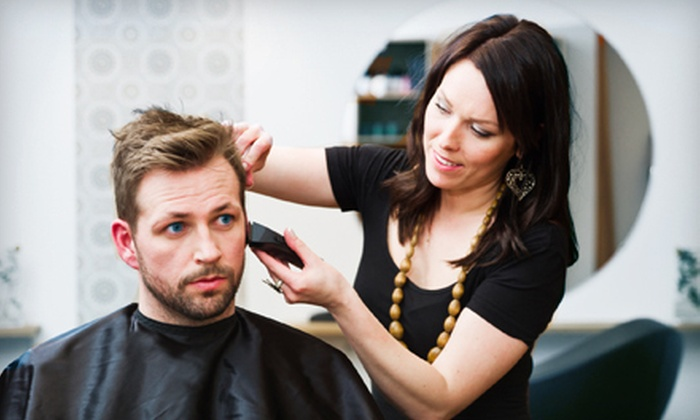 Valiente Salon & Spa For Men - Southwest Carrollton: Haircut with Pedicure, Massage, or Facial and Massage at Valiente Salon & Spa For Men in Carrollton (Up to 54% Off)