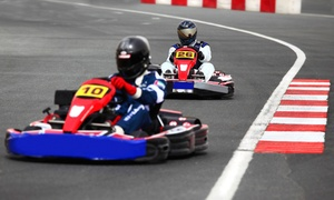 Whiteland Raceway Park: Two Go-Kart Races or Go-Kart Driving School with Rental Gear at Whiteland Raceway Park (Up to 53% Off)