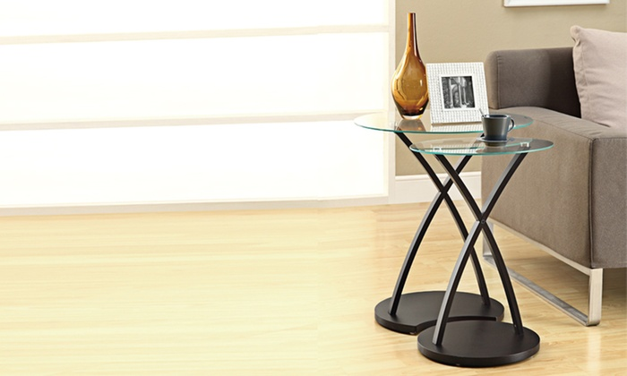$99.99 for Two Cappuccino-Colored Bentwood Nesting Tables. Free Shipping and Returns