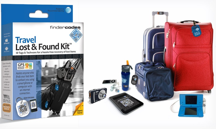 FinderCodes Travel Lost & Found Kit: $14.99 for a FinderCodes Travel Lost & Found Kit ($29.99 List Price). Free Returns.