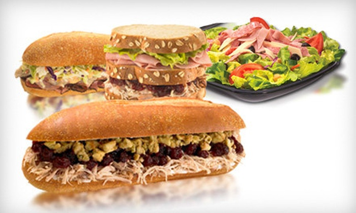 Capriotti's Sandwich Shop - Multiple Locations: Sandwiches and Salads from the Regular or Catering Menu at Capriotti's Sandwich Shop (50% Off)