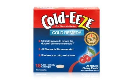 Cold-Eeze Cold Remedy Natural Cherry Flavor Lozenges; 12-Pack of 18ct. Boxes + 5% Back in Groupon Bucks