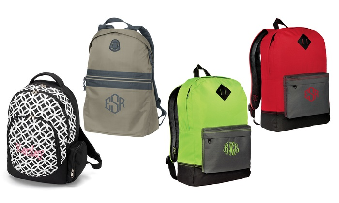Embellish Accessories and Gifts: Personalized Backpacks from Embellish Accessories and Gifts (Up to 58% Off). Four Options Available.