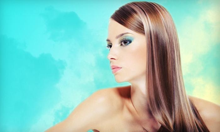 David Groshen Salon - David Groshen Salon: Hair-Smoothing Treatment with Optional Haircut at David Groshen Salon (Up to 74% Off)