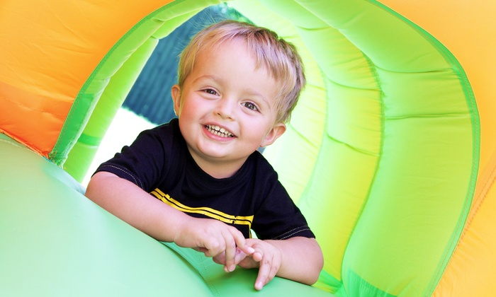 FunWorks - Memphis: Regular or Oversized Bounce-House Rental with Character Visit from FunWorks (Up to 61% Off)