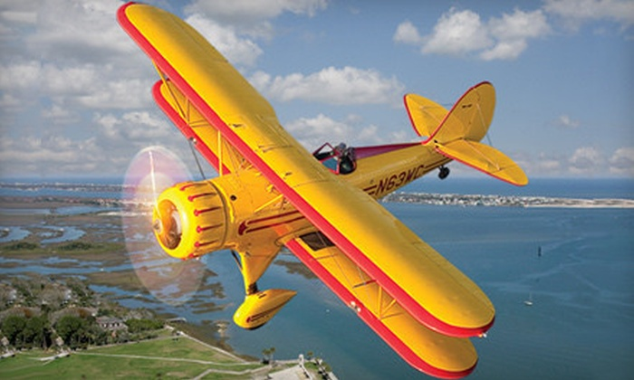 St. Augustine Air Tours, Inc. - St. Augustine: $87 for a Scenic 20-Minute Biplane Tour from St. Augustine Air Tours, Inc. ($175 Value)