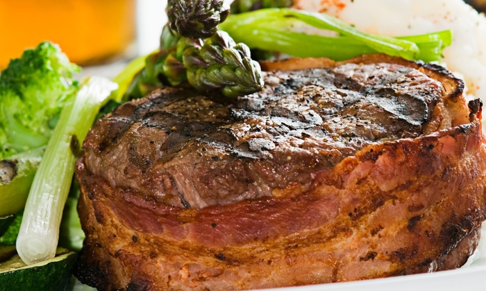 Uptown Tavern & Rooftop - Uptown: Steak Dinner for Two at Uptown Tavern & Rooftop (Up to 50% Off). Two Options Available.