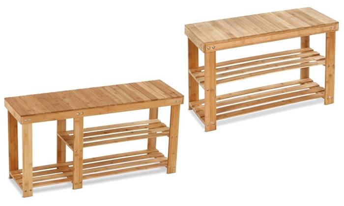 banc range chaussures en bois groupon shopping. Black Bedroom Furniture Sets. Home Design Ideas