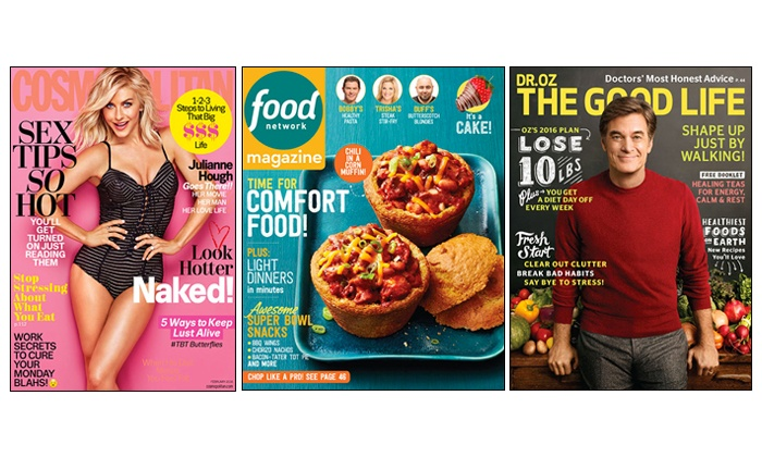 Hearst Magazines: $10 for Two Magazine Subscriptions from Hearst Magazines (Up to $30 Value)