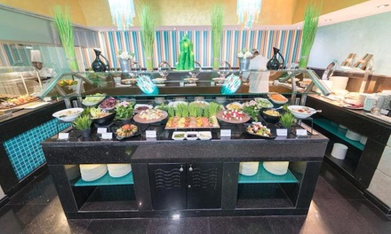 Friday Lunch Buffet and Pool Pass for Up to 8 at Symphony Restaurant, 4* Golden Tulip Abu Dhabi (Up to 50% Off*)