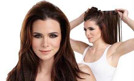 HairUWear 16-Inch Textured Clip-In Hair Extensions