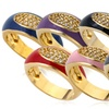 14K Gold Plated Enamel and Cubic Zirconia Rings