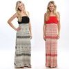 Strapless Aztec Maxi Dress