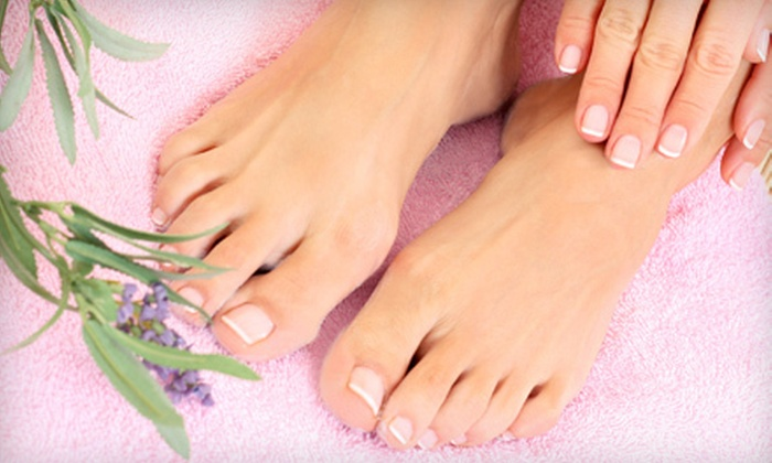 Secrets Spa - Palm Springs North: One or Three Exotic Fruits Mani-Pedis or One Shellac Mani-Pedi at Secrets Spa (Up to 59% Off)