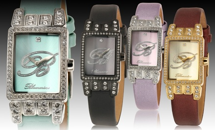 Blumarine Women's Shimmer Collection Watches with Leather and Swarovski Crystals. Multiple Styles. Free Returns.
