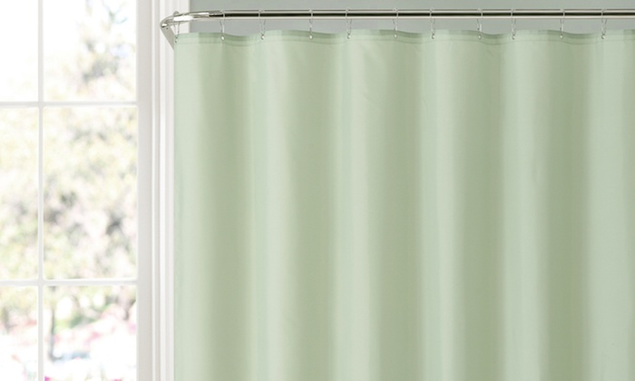 72 X72 Fabric Suction Cup Waterproof Shower Curtain Liner Groupon