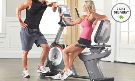 FreeMotion Recumbent Exercise Bike. Lifetime Warranty  on Frame and 1-Year Warranty on Parts and Labor.