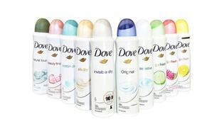 10-Pack Dove Women's Antiperspirant Spray