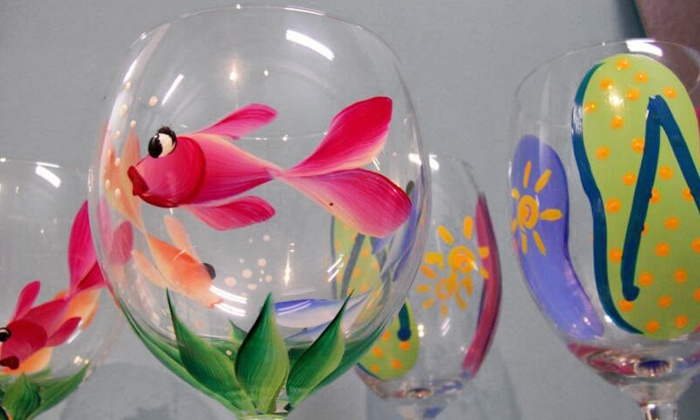 El Arte Uncorked - Multiple Locations: Wine-Glass Painting Class for One, Two, or Four from El Arte Uncorked (Half Off)