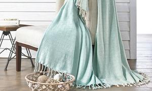 Cotton Diamond-weave Throws (2-pack)