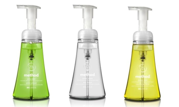 Method Foaming Hand Wash (6-Pack): Method Foaming Hand Wash; 6-Pack of 10oz. Bottles + 5% Back in Groupon Bucks