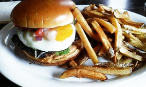 Diez Y Ocho: Burgers and Chicken Wings for Two, or Takeout at Diez Y Ocho (Up to 43% Off)