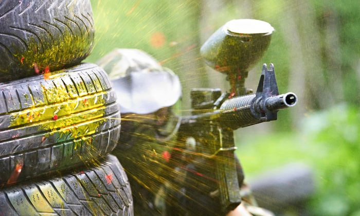 Whatz-up Paintball - Seven Points: 5-Hour Paintball Outing with Gear Rental and 500 Paintball Rounds at Whatz-Up Family Fun Park (47% Off)