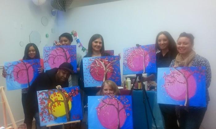 Techworld, Llc - Gravesend: Two-Hour Adult BYOB Painting Lesson at Techworld, LLC (50% Off)