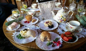 Purple Orchid Gift Boutique & Tea House: Dine-In High Tea for Up to Two or Four People at Purple Orchid Gift Boutique & Tea House (50% Off)