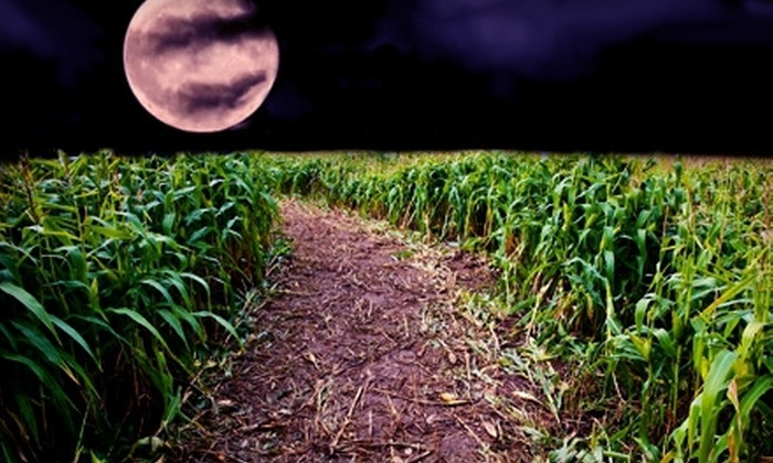 Lark Ranch - Greenfield: Haunted-Corn-Maze Outing for Two or Four at Lark Ranch (Up to 58% Off)