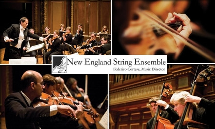 New England String Ensemble - North Andover: $11 for One Section B Ticket to the New England String Ensemble ($25 Value). Buy Here for Friday, January 29 at 7:30 p.m. at Rogers Center for the Arts at Merrimack College. See Below for Additional Performances and Venues.