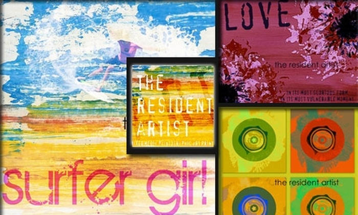 The Resident Artist - Philadelphia: $60 for One-of-a-Kind Custom Paintographic Artwork at The Resident Artist ($120 Value)