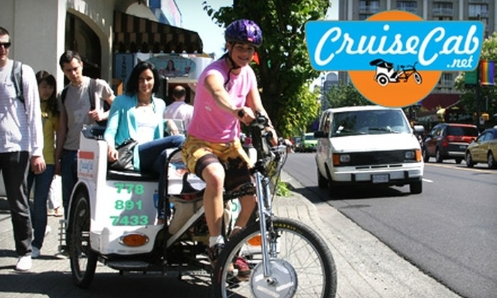 Cruise Cab - Mt. Pleasant: $25 for a 30-Minute Daytime Pedicab Tour of Downtown for Two from Cruise Cab