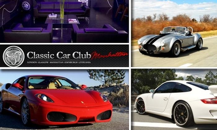 Classic Car Club Manhattan - SoHo: $399 for a Day of Sports-Car Driving From Classic Car Club Manhattan ($900 Value)
