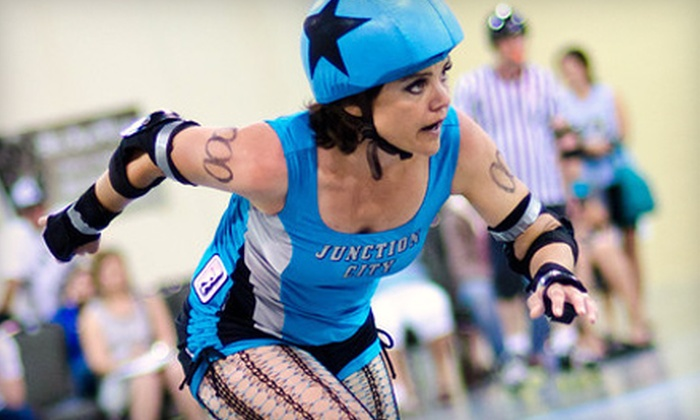 Junction City Roller Dolls - Layton: $10 for Two Tickets to Junction City Roller Dolls Doubleheader at Davis Conference Center in Layton on October 15 (Up to $20 Value)