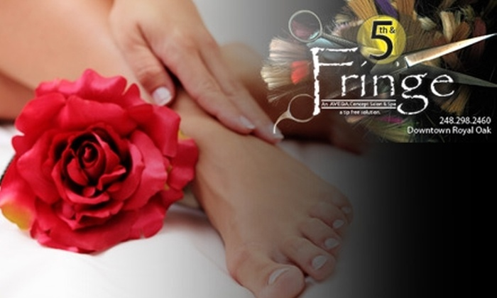 5th & Fringe Salon & Spa - Downtown Royal Oak: $40 for a Manicure and Pedicure with Paraffin Wax at 5th & Fringe Salon & Spa in Royal Oak