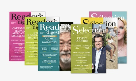 C$20 for YearLong Subscription to Reader's Digest or Slection du Readers Digest(C$39.05 Value)